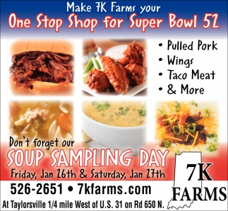 Don't Forget Our Soup Sampling Day