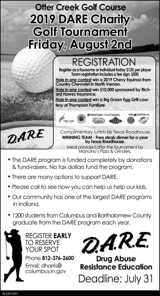 2019 DARE Charity Golf Tournament