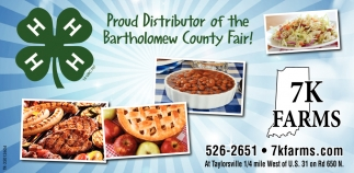 Proud Distributor Of The Batholomew County Fair!
