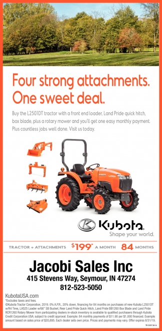 Four Strong Attachments. One Sweet Deal.