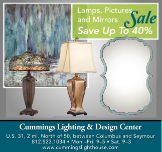 Lamps, Pictures And Mirrors Sale