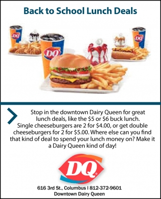 Back To School Lunch Deals