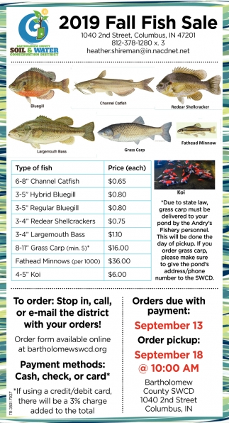 2019 Fall Fish Sale