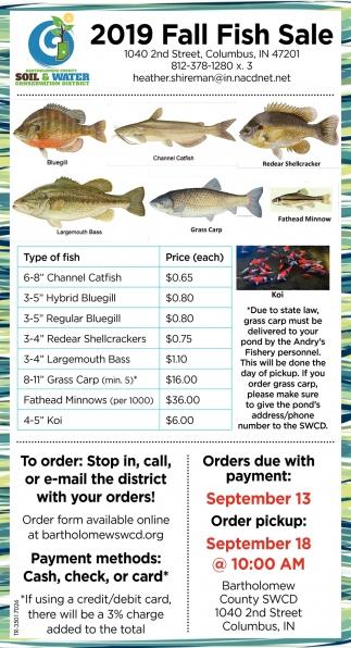 2019 Fall Fish Sale