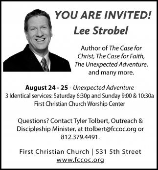 You're Invited! Lee Strobel