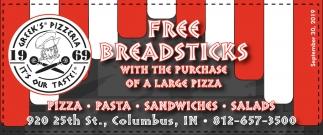 Pizza - Pasta - Sandwiches - Salads