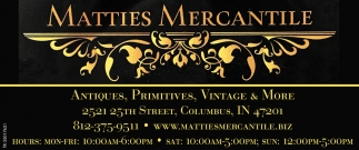 Antiques, Primitives, Vintage & More