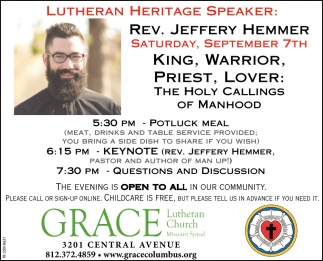 Lutheran Heritage Speaker: Rev. Jeffery Hemmer