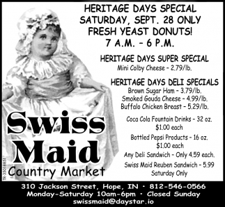 Heritage Days Special