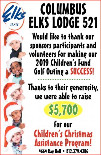 Children's Christmas Assistance Program!
