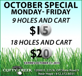 October Special Monday-Friday