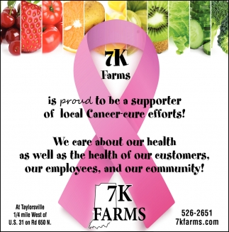 Is Proud To Be Supporter Of Local Cancer-cure Efforts!
