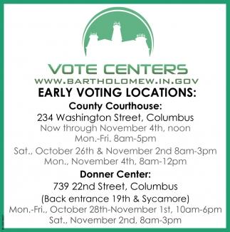 Vote Centers