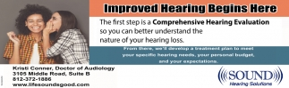 Improved Hearing Begins Here