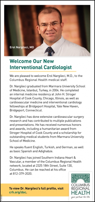 Welcome Our New Interventional Cardiologist