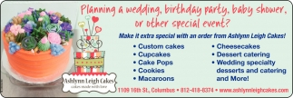Planning A Wedding, Birthay Party, Baby Shower, Or Other Special Event?