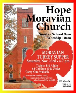 Moravian Turkey Supper