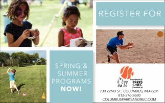 Register For Spring And Summer Programs Now!