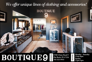 We Offer Unique Lines Of Clothing And Accessories!