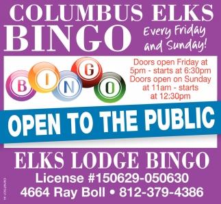 Columbus Elks Big Bingo