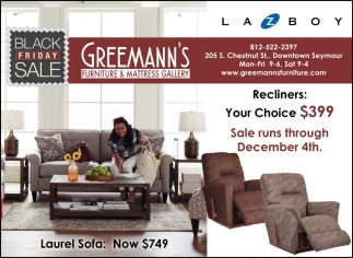 Black Friday Greemann S Furniture