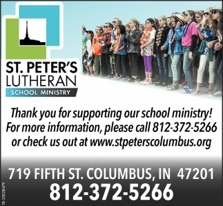 Thank You For Supporting Our School Ministry!