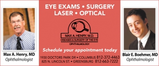 Eye Exams - Surgery - Laser - Optical