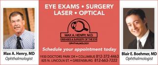 Eye Exams - Surgery - Laser - Optical