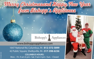 Happy New Year From Bishopp's Appliances