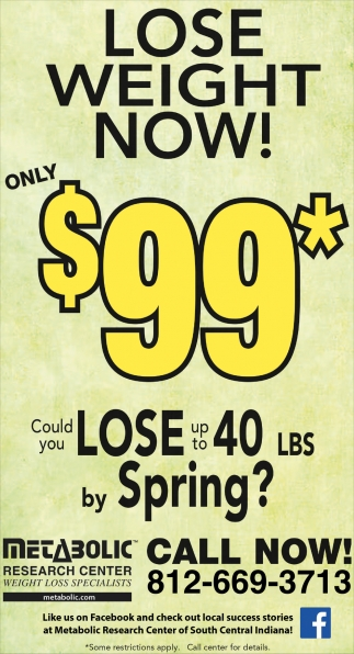 Lose Weight Now! Only $99*