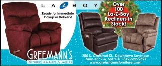 Over 100 La-Z-Boy Recliners In Stock!