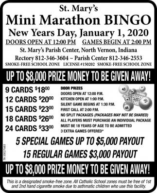 St Marys Bingo