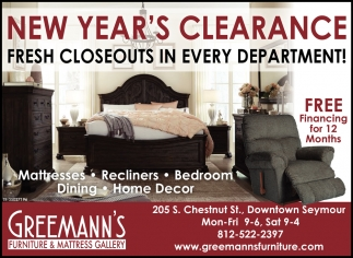 New Year's Clearance