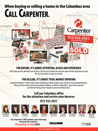 When Buying Or Selling Home In The Columbus Area Call Carpenter.
