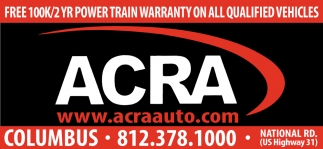 Free 100k/2YR Power Train Warranty