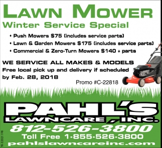 Lawn Mower Winter Service Special