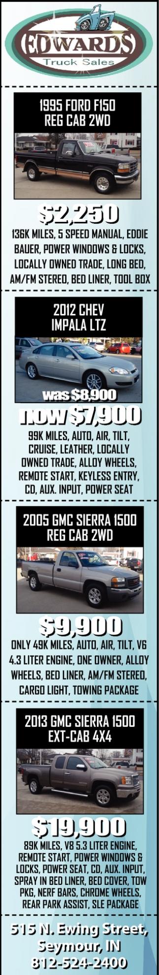 1995 Ford F150 Reg Cab 2WD
