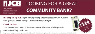 Looking For A Great Community Bank?