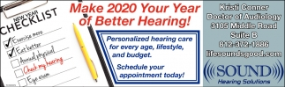 Make 2020 Your Year Of Better Hearing!