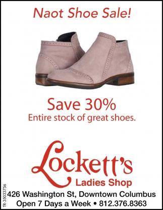 Naot Shoe Sale!