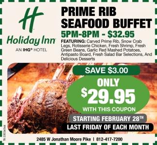 Prime Rib Seafood Buffet