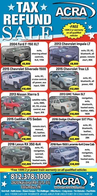 Tax Refund Sale