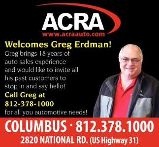 Welcomes Greg Erdman!