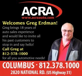 Welcomes Greg Erdman!