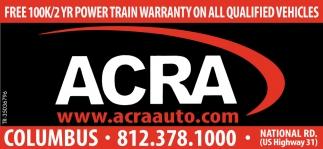 Free 100K/2 YR Power Train Warranty