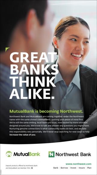 Great Banks Think Alike