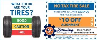 No Tax Tire Sale
