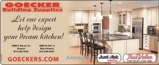 Let Our Expert Help Design Your Dream Kitchen!, Goeckers Building Supplies  , Seymour, IN