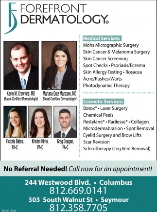 Call Now For An Appointment!