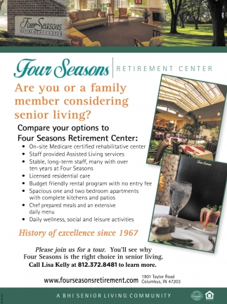 Are You Or A Family Member Considering Senior Living?